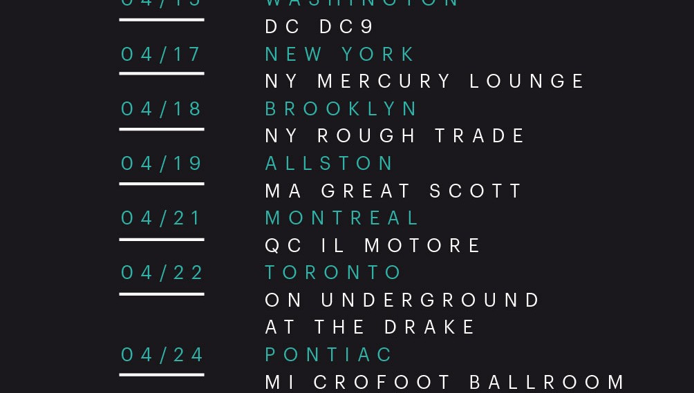 I Break Horses: USA tour